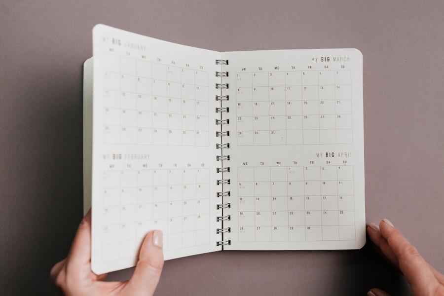 2021 Weekly planner LIGHT WOOD